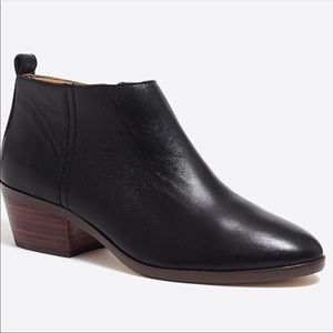 J. Crew Factory Shoes - J. Crew Sawyer leather booties in black leather